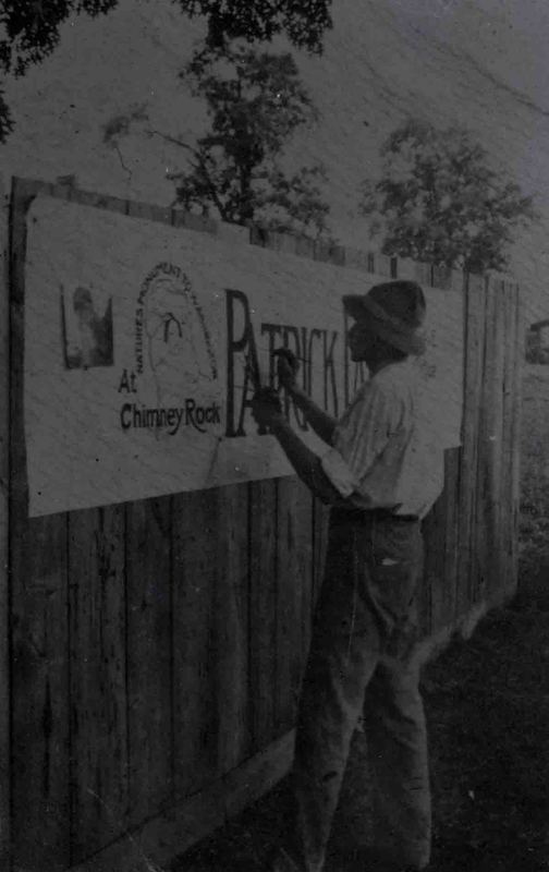 William A. Barnhill Painting Signs in Ashville. 1914