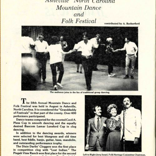 Mountain Dance and Folk Festival, Southern Traditions, pg. 1