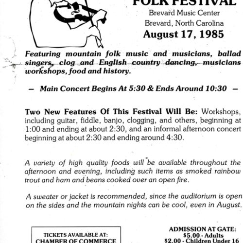 Flyer for 9th Byard Ray Festival
