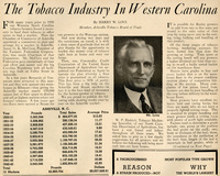 """""""The Tobacco Industry in Western North Carolina"""""""